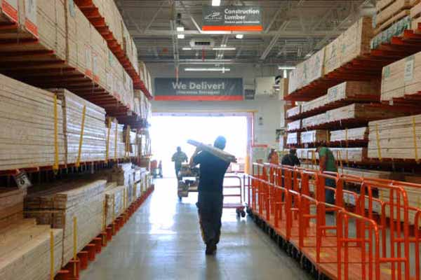 Increased Boston area home improvement activity has meant record sales for big box stores Home Depot and Lowes.