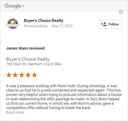 Buyer's Choice Realty Testimonials on Google